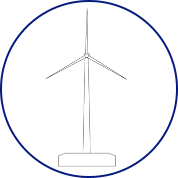 Wind turbines Wind non-marked structure