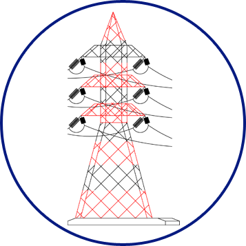 Pylons Marked chain structure